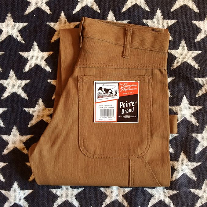 POINTER BRAND BROWN DUCK PAINTER PANTS MADE IN USA FARMHOUSE京都