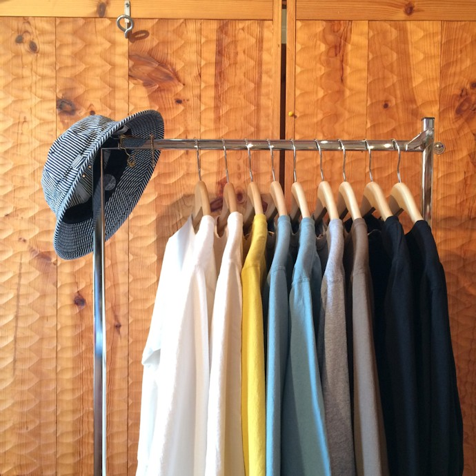 GOOCD WEAR L/S POCKET TEE SMOKY AQUA MADE IN USA FARMHOUSE京都