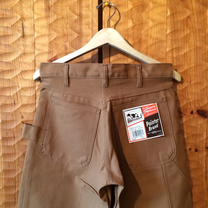 DEAD STOCK POINTER BRAND BROWN DUCK PAINTER PANTS MADE IN USA FARMHOUSE京都