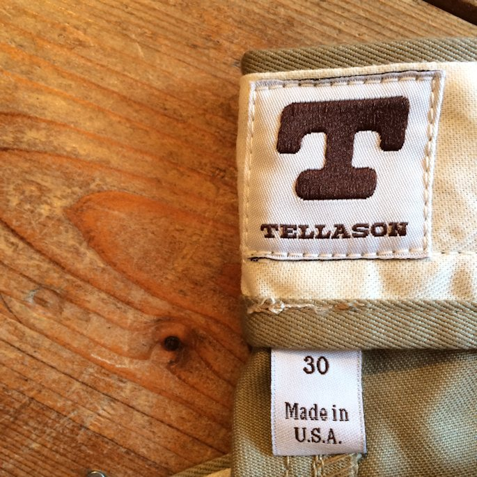 TELASSON SLIM TAPERED CHINO MADE IN USA 通販 FARMHOUSE京都
