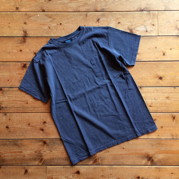 GOOD ON POCKET TEE PIGMENT NAVY MADE IN USA 通販 FARMHOUSE京都