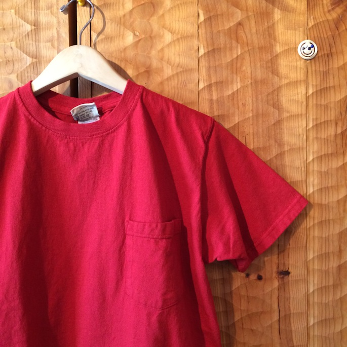 GOOD WEAR S/S POCKET TEE RUBY RED MADE IN USA 通販 FARMHOUSE京都
