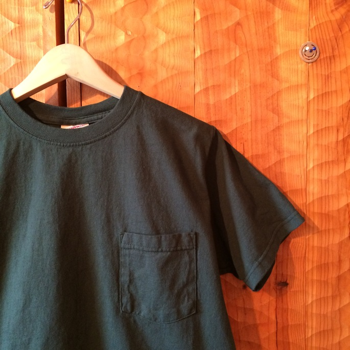 GOOD WEAR S/S POCKET TEE JUNGLE GREEN MADE IN USA 通販 FARMHOUSE京都