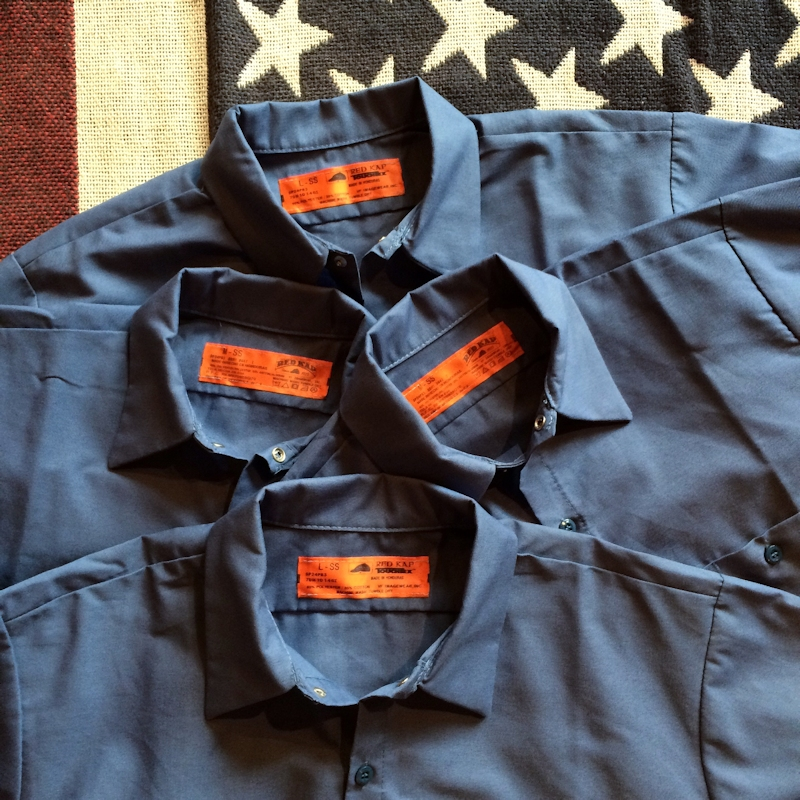 RED KAP S/S WORK SHIRTS POSTMAN BLUE 通販 FARMHOUSE京都