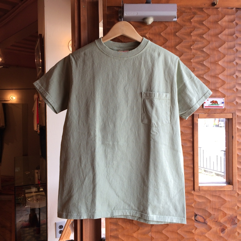 GOOD WEAR S/S POCKET TEE MADE IN USA SMOKY SAGE 通販 FARMHOUSE京都