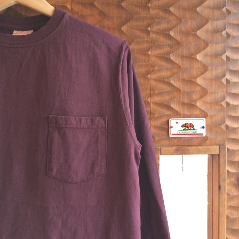 GOOD WEAR L/S POCKET TEE BORDEAUX MADE IN USA 通販 FARMHOUSE小西