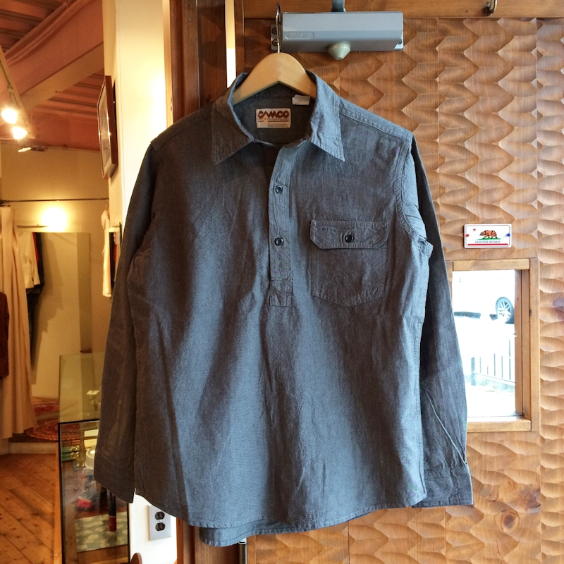 CAMCO PULLOVER BLACK CHAMBREY SHIRTS 通販 FARMHOUSE京都