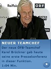 ORF;オーストリア監督ブリュックナー就任会見動画