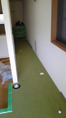 プロゴルファー育成用パター練習場
