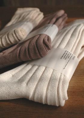 リブ編み靴下