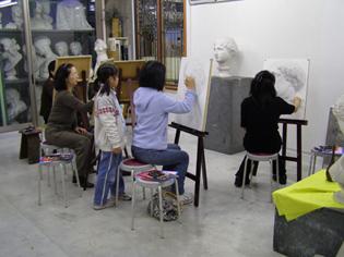 吉祥寺美術学院1日デッサン無料体験講習