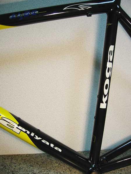 自転車フレーム 補修塗装
