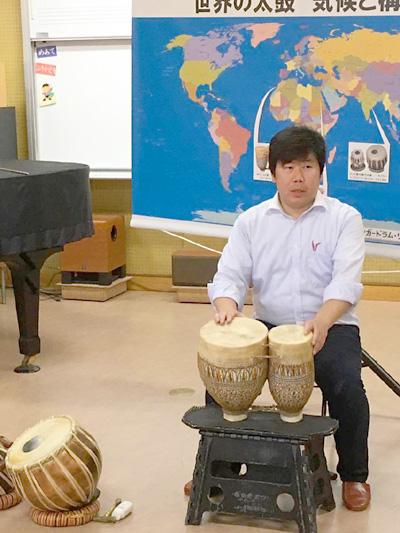 佐伯モリヤス 課外授業 小学校 中学校 太鼓 打楽器 トバイラ 世界 ワールド