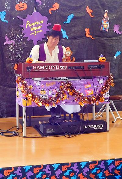 盛岡 ベアレン 赤レンガ ビールフェスト2018 ハロウィン 仮装 佐伯モリヤス ハモンドオルガン 両日演奏