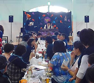 盛岡 ベアレン 赤レンガ ビールフェスト2018 乾杯 伴奏 ハロウィン 仮装 佐伯モリヤス ハモンドオルガン 両日演奏