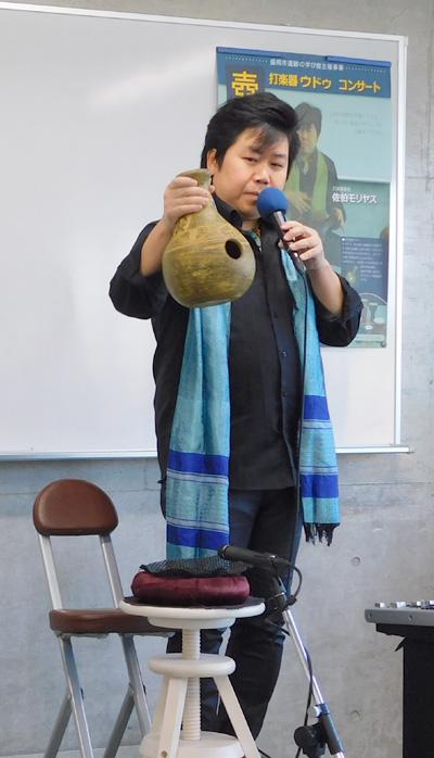 ウドゥ ウドゥ奏者 佐伯モリヤス コンサート 盛岡市 遺跡の学び館 テレビ岩手 ニュースプラス1いわて 岩手めんこいテレビ 取材