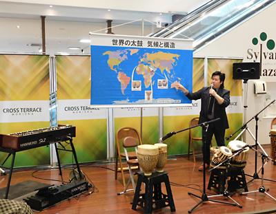 佐伯モリヤス レクチャーコンサート 世界の太鼓 気候と構造 クロステラス 盛岡 打楽器 インド アラブ モロッコ 解説