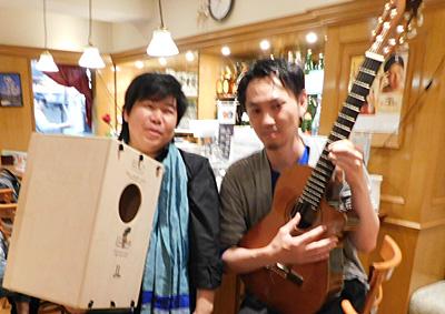 高橋新 ギター 佐伯モリヤス カホン 靴のひとり言 日本橋 人形町 おとりよせレストラン こうちや 高知