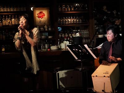 天使のコンチェルト シャンソン 夏稀りさ 佐伯モリヤス カホン パーカッション 打楽器 銀座 ライブ