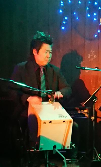 江古田マーキー 佐伯モリヤス カホン パーカッショニスト カホン奏者 ライブハウス