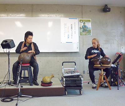 ウドゥ奏者 演奏 佐伯モリヤス 壺打楽器 遺跡の学び館 ハンドパーカッション 盛岡 岩手 藤枝克也