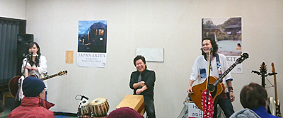 Hacchiとさなだっち 佐伯モリヤス カホン タブラー ダラブッカ 真田翔太 ギター 道の駅 たかのす 大太鼓の里 大太鼓の館