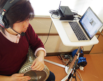 ダラブッカ ダルブッカ オンラインレッスン 教室 佐伯モリヤス ウェブカメラ Webレッスン Skype スカイプ 奏法 叩き方