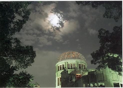 夜原爆ドーム