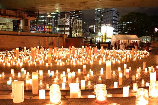 1000000人のキャンドルナイト@OSAKA CITY 西梅田