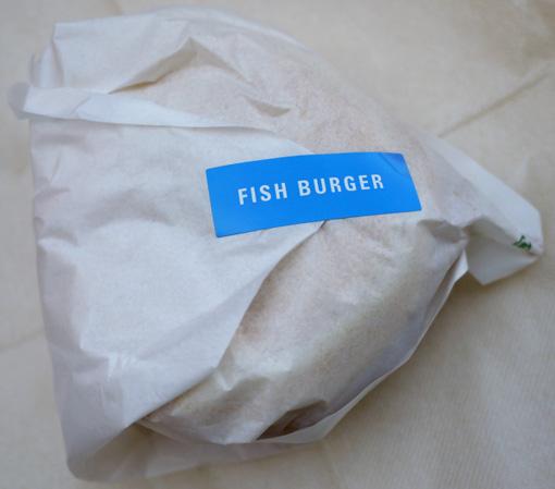 フレッシュネスバーガーのフィッシュバーガー