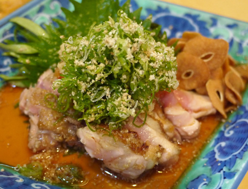 新世界玉家 軍鶏 しゃも 天然活魚料理