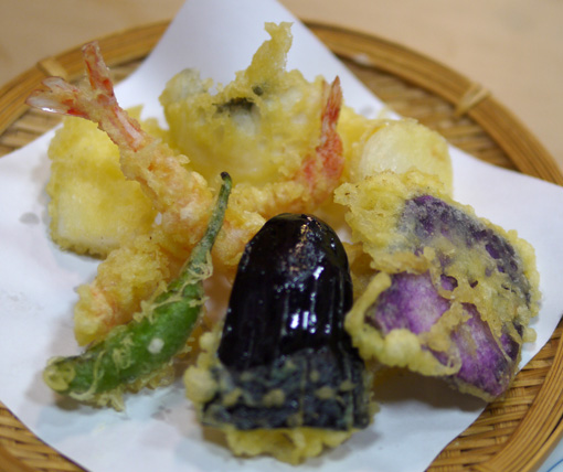 新世界 万よし、天ぷらコース