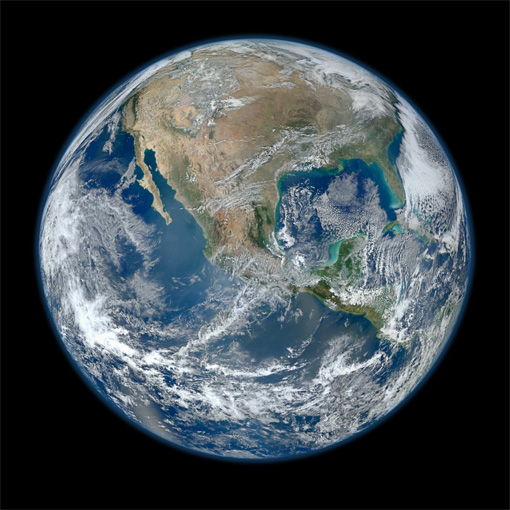 NASAの、大きな地球の画像