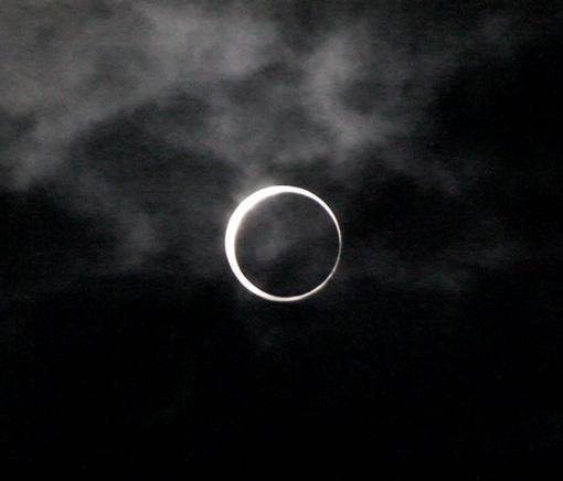 金環日食見えました