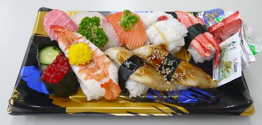 梅田阪神百貨店デパ地下 さかなやの寿司 中トロセット