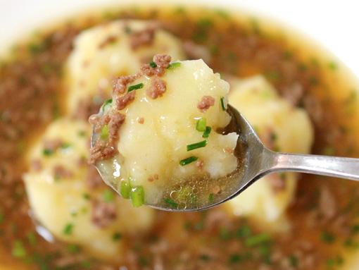 土豆泥 じゃがとろ マッシュポテト そぼろあんかけ mash potato in the soup