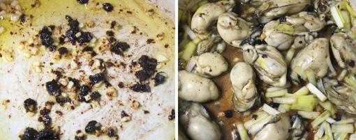 イムシイオー風カキのトウチ炒め 牡蠣の豆豉炒め