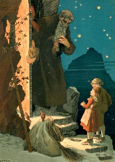 Vor der Pforte Weihnachtsbilder von Viktor Paul Mohn, 1842 bis 1911