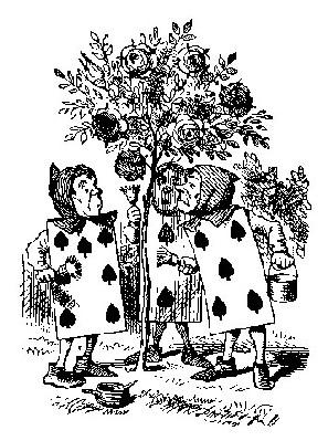 薔薇の園丁 挿絵(木口木版) ジョン・テニエル