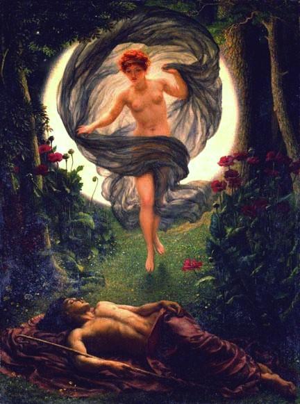 Selene and Endymion Edward John Poynter (1836-1919) Oil on canvas Manchester City Art Gallery