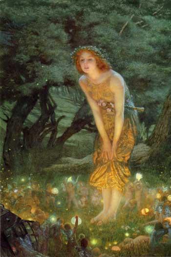 Midsummers Eve1908 Edward Robert Hughes1851-1917