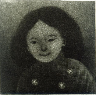 「幼い子」アクアチント ed.25 8x8cm