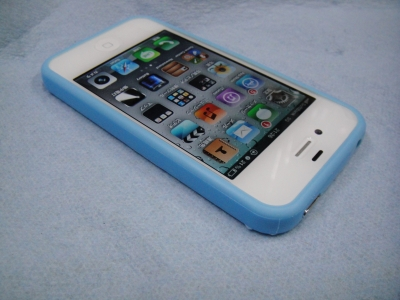 iPhone4/iPhone4s バンパーケース ブルー