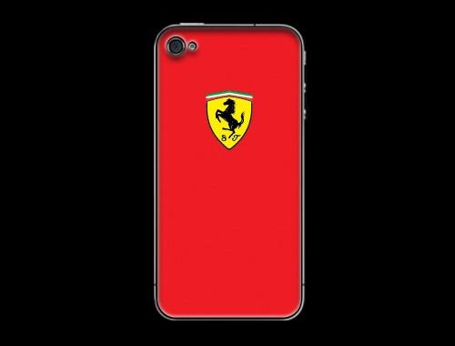 iPhone4/iPhone4s用フェラーリロゴ入り背面保護カバー レッド