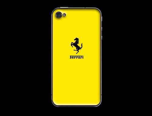 iPhone4/iPhone4s用フェラーリロゴ入り背面保護カバー イエロー