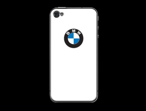 iPhone4/4s用BMWロゴ入り背面保護カバー(ケース) ホワイト