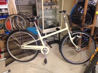無印良品の自転車。20型自転車の画像