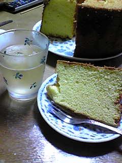自作シフォンケーキ