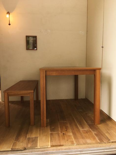 チーク ダイニングテーブル ベンチ