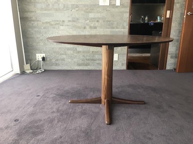 丸テーブル ウォールナット